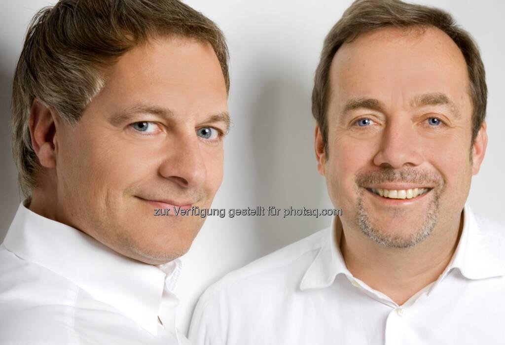 Norbert Steinke und Richard Lohner, GF Hallhuber, eröffnen ein Geschäft auf der Mariahilferstrasse 51 (c) Aussendung (05.08.2013)