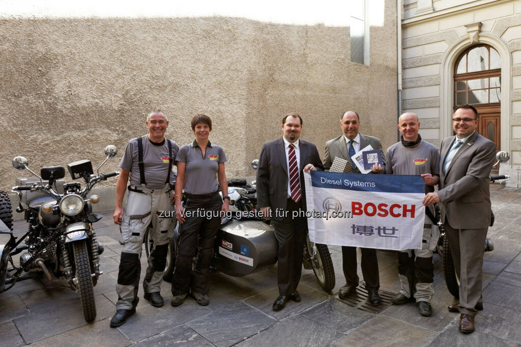 Frank Eichel (Bosch) reist 20.000 km mit dem Motorrad zum neuen Arbeitsplatz, von Wuxi in China nach Jihlava in Tschechien (Bild: Bosch), © beigestellt (05.08.2013)