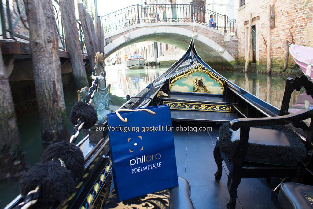 Venedig, Brücke, Gondel, Philoro Sackerl, © Nina Krist (Philoro) (05.08.2013)
