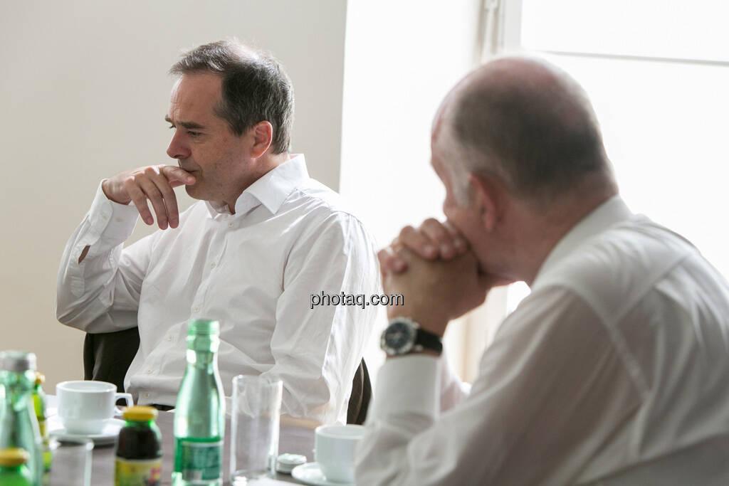 Wolfgang Matejka (Matejka & Partner), Wolfgang Nolz (Kapitalmarktbeauftragter, BMF), © finanzmarktfoto.at/Martina Draper (06.08.2013)