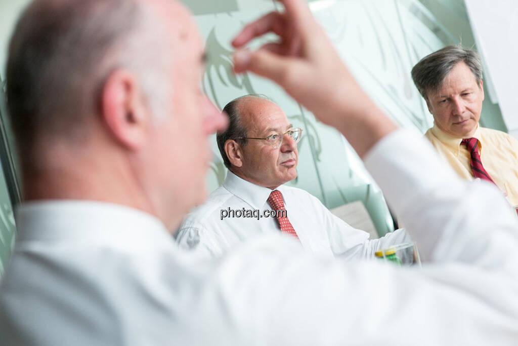 Wolfgang Nolz (Kapitalmarktbeauftragter, BMF), Michael Spiss (RCB), Heinrich Traumüller (Büro des Kapitalmarktbeauftragten, BMF), © finanzmarktfoto.at/Martina Draper (06.08.2013)