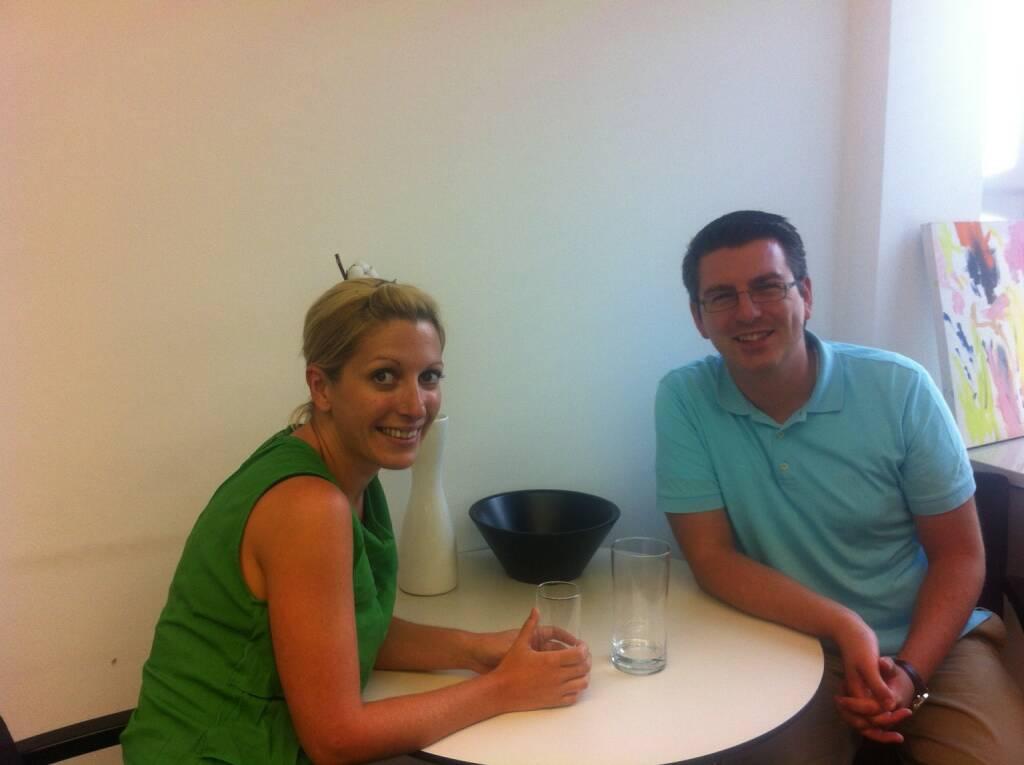 ... im Talk mit Lisa Wagerer und Bosko Skoko, S Immo (11.08.2013)
