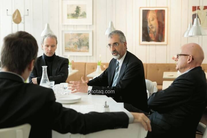 Christian Drastil (Christian Drastil Communications), Bradford Cooke (CEO Endeavour Silver), Hugh D. Clarke (Vice President Endeavour Silver)