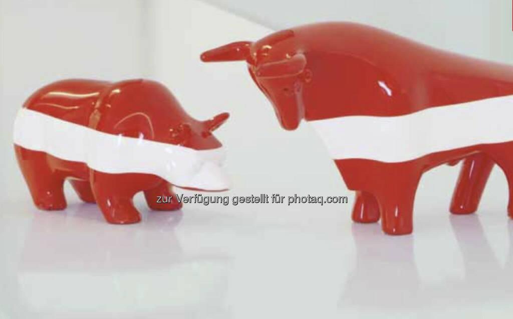 Bär, Bulle, Wiener Börse, Rot-Weiss-Rot (c) Wiener Börse (12.08.2013)