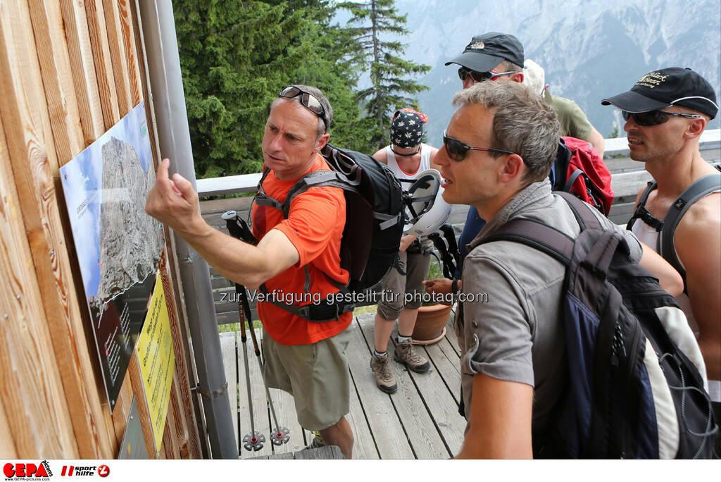 Geschaeftsfuehrer Anton Schutti (Sporthilfe) und Andreas Maier (Bawag PSK). Foto: GEPA pictures/ Markus Oberlaender (13.08.2013)