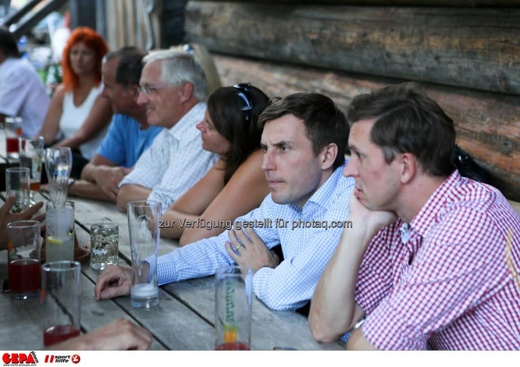Franz Meingast (Uniqua), Generaldirektor Klaus Oberhammer (Citroen), Sebastian Haboeck (Citroen) und Juergen Gruber (Drei). Foto: GEPA pictures/ Markus Oberlaender (13.08.2013)