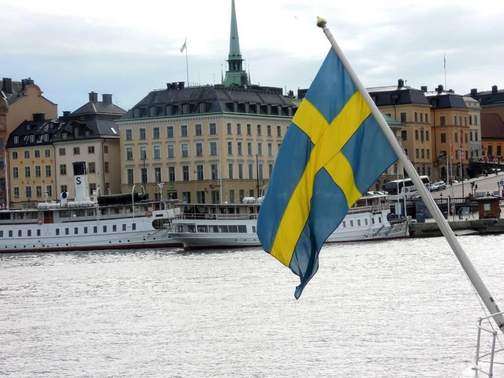 Fahne Schweden, Stockholm, © Peter Sitte (14.08.2013)