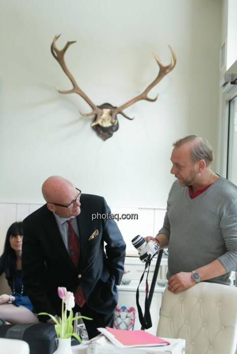 Hugh D. Clarke (Vice President Endeavour Silver), Heinz Karasek (Das Heinz)
