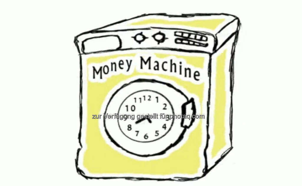 Money Machine, Geldmaschine - ein Still aus https://vimeo.com/68766520 von Julie Böhm (17.08.2013)
