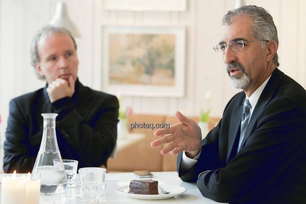 Christian Drastil (Christian Drastil Communications), Bradford Cooke (CEO Endeavour Silver), © Martina Draper (15.12.2012)