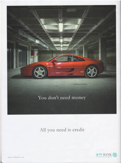 All you need is credit - WTF Bank, The Pigs, (c) Carlos Spottorno (Phree und RM Verlag) (19.08.2013)