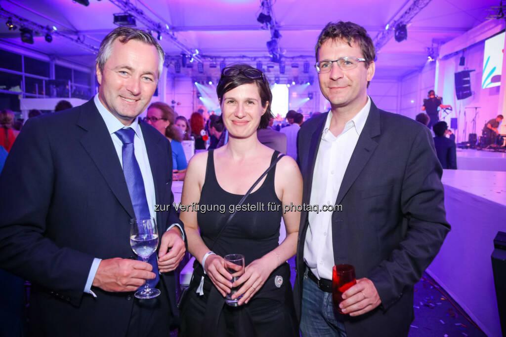 A1 Telekom Austria CEO Hannes Ametsreiter und Marie Ringler, © 3 (20.08.2013)