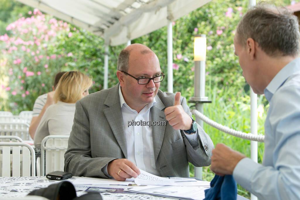 Roland Meier (iq-Foxx), Christian Drastil, © finanzmarktfoto.at/Martina Draper (20.08.2013)