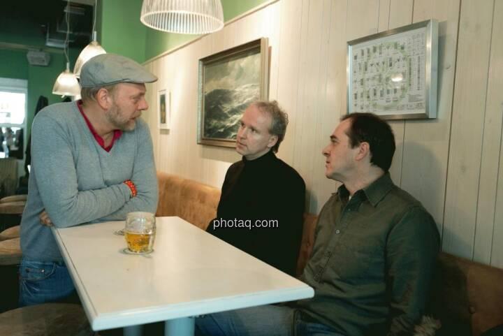 Heinz Karasek (Das Heinz), Christian Drastil (Christian Drastil Communications), Wolfgang Matejka (Matejka & Partner)
