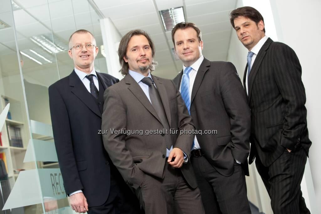APC Führungsteam mit Neo-CEO Gunnar Björn Heinrich, Horst Suntych, Alfons Fanta, Stefan Vycudili (c) Aussendung (26.08.2013)