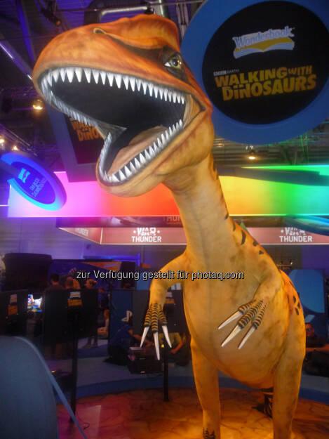 Dinosaurier gamescom, © Roland Meier (27.08.2013)