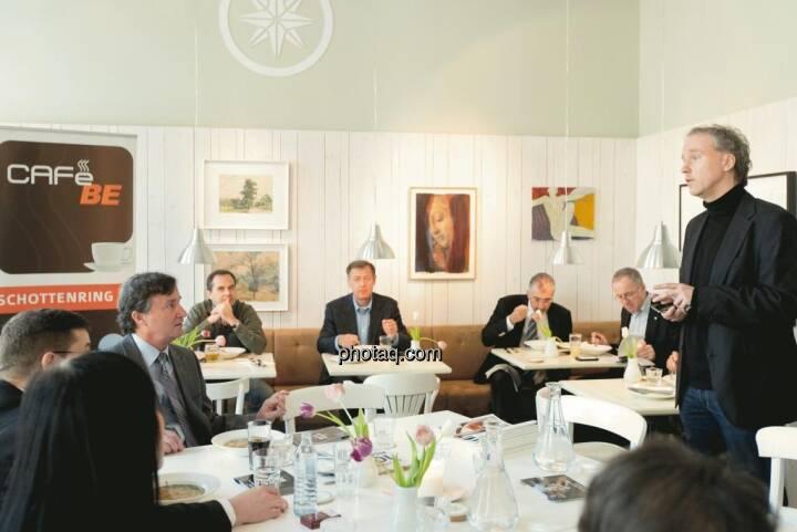 Cafe BE / Lunch Presentation mit Endeavour, Aurcana, Argentuminvest, IR-World.com, Börse Express, christian-drastil.com am 21.4. 2012 im Das Heinz