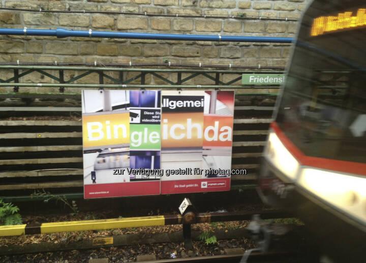 U-Bahn, Bin gleich da
