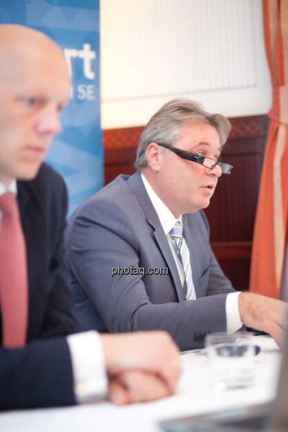conwert: Johannes Meran (Vorsitzender des Verwaltungsrats), Thomas Doll (Geschäftsführender Direktor), © finanzmarktfoto.at / Michaela Mejta (28.08.2013)