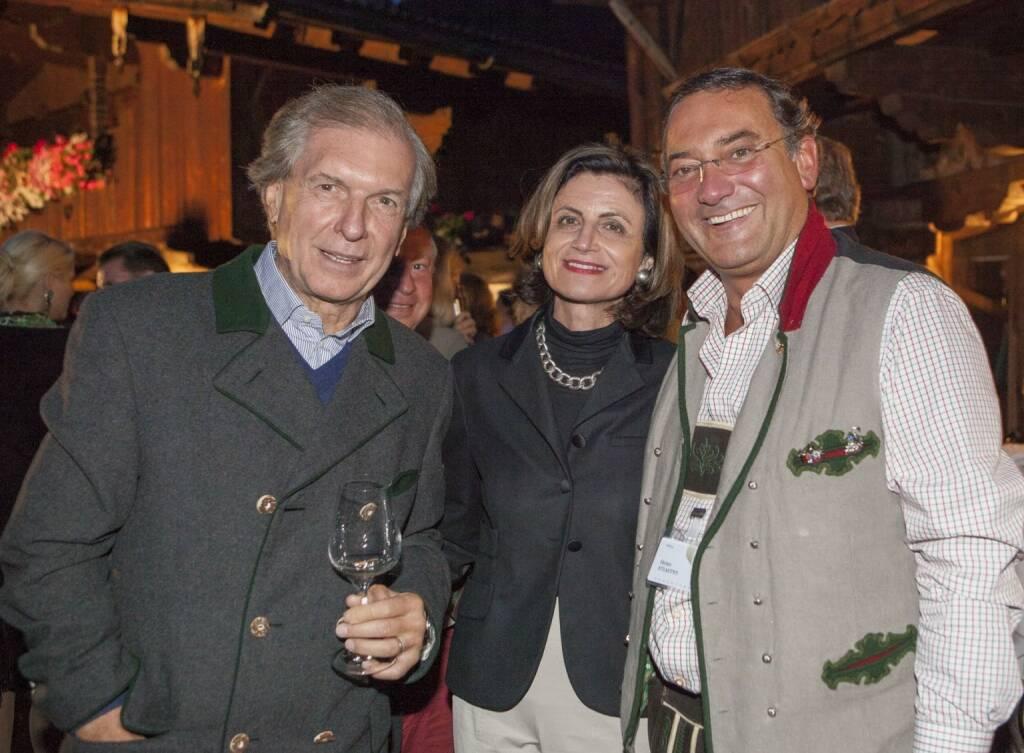 Friedrich Stickler (Lotterien-Vorstand), Renate Danler (Hofburg Vienna), Unternehmer Heinz Stiastny, © leisure.at/Roland Mühlanger (28.08.2013)