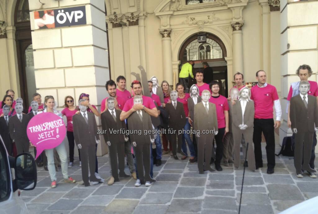 Neos vor der ÖVP-Zentrale (29.08.2013)