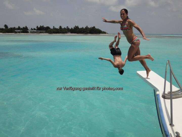 Sprung, Wasser, Boot (c) Monika Kalbacher