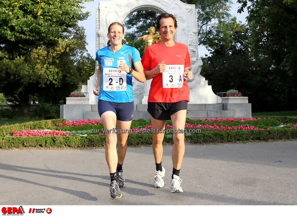 Michaela Gigon (AUT) und Sportstadtrat Christian Oxonitsch. (Foto: GEPA pictures/ Philipp Brem) (03.09.2013)