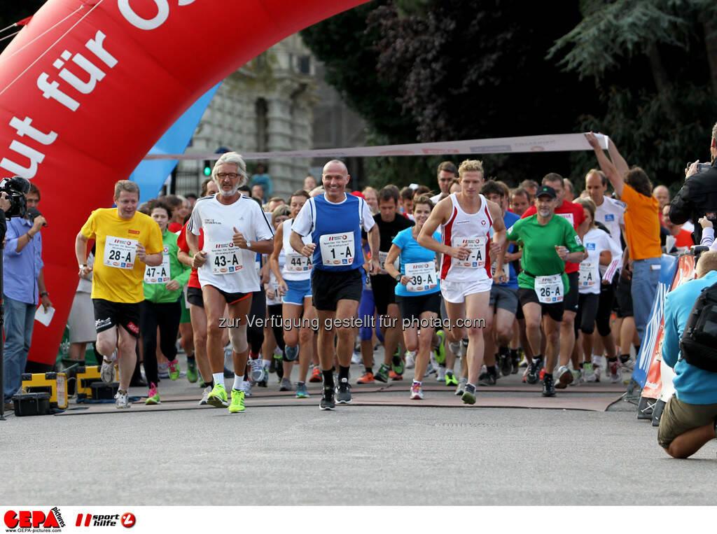 Start mit Sportminister Gerald Klug. (Foto: GEPA pictures/ Philipp Brem) (03.09.2013)