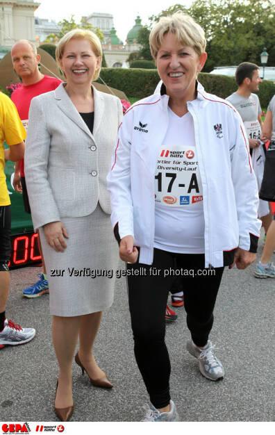 Brigitte Jank (WKO) und Praesidentin Maria Rauch-Kallat (OEPC). (Foto: GEPA pictures/ Philipp Brem) (03.09.2013)