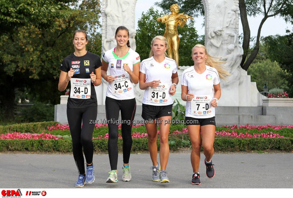 Teresa Strauss, Nadine Strauss, Mirnesa Becirovic und Mirneta Becirovic (AUT). (Foto: GEPA pictures/ Philipp Brem) (03.09.2013)