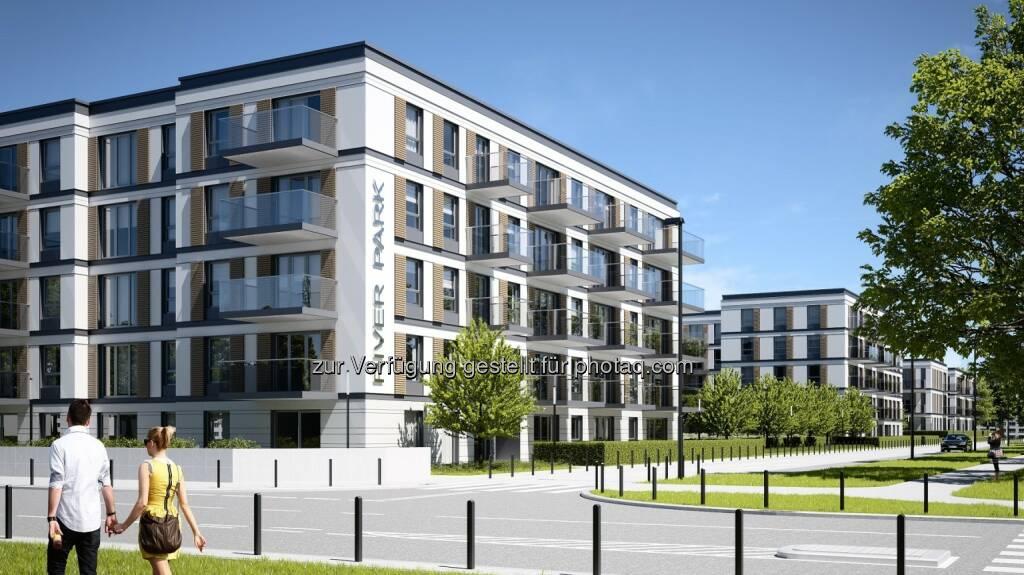 Die Immofinanz Group startet mit dem Bau eines Wohnimmobilienprojekts in Posen, der fünftgrößten Stadt Polens. Der Riverpark wird 189 Wohnungen mit einer Gesamtfläche von 11.852 m² umfassen, die Fertigstellung ist für das erste Halbjahr 2015 geplant. Die Gesamtinvestitionssumme wird sich voraussichtlich auf rund EUR 18 Mio. belaufen (c) Immofinanz (04.09.2013)