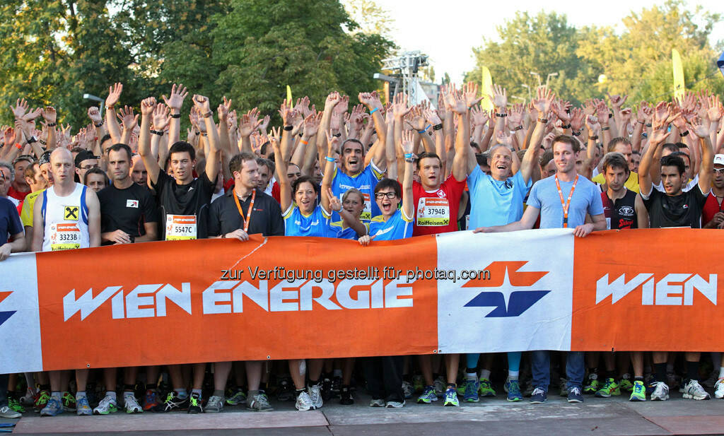 vor dem Start Wien Energie Business Run, © Wien Energie (05.09.2013)