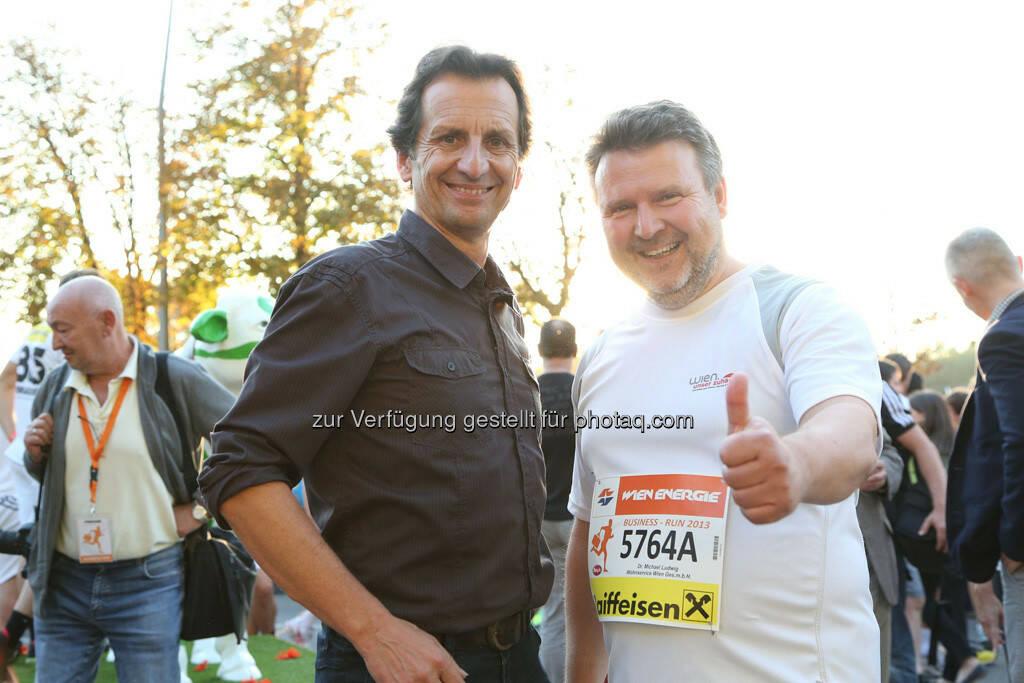 Christian Oxonitsch (Sportstadtrat), Michael Ludwig (Wohnbaustadtrat), © Wien Energie (05.09.2013)