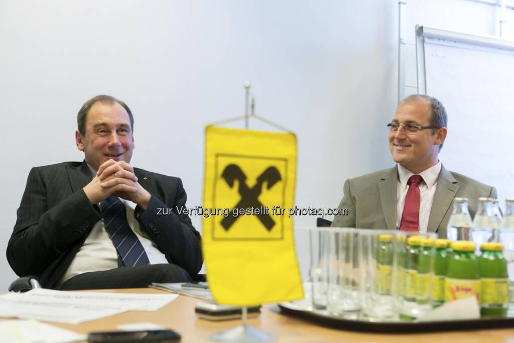 Martin Schaller (Vorstand RLB Steiermark), Siegfried Mader (CEO THI), © Martina Draper für Börse Express (15.12.2012)
