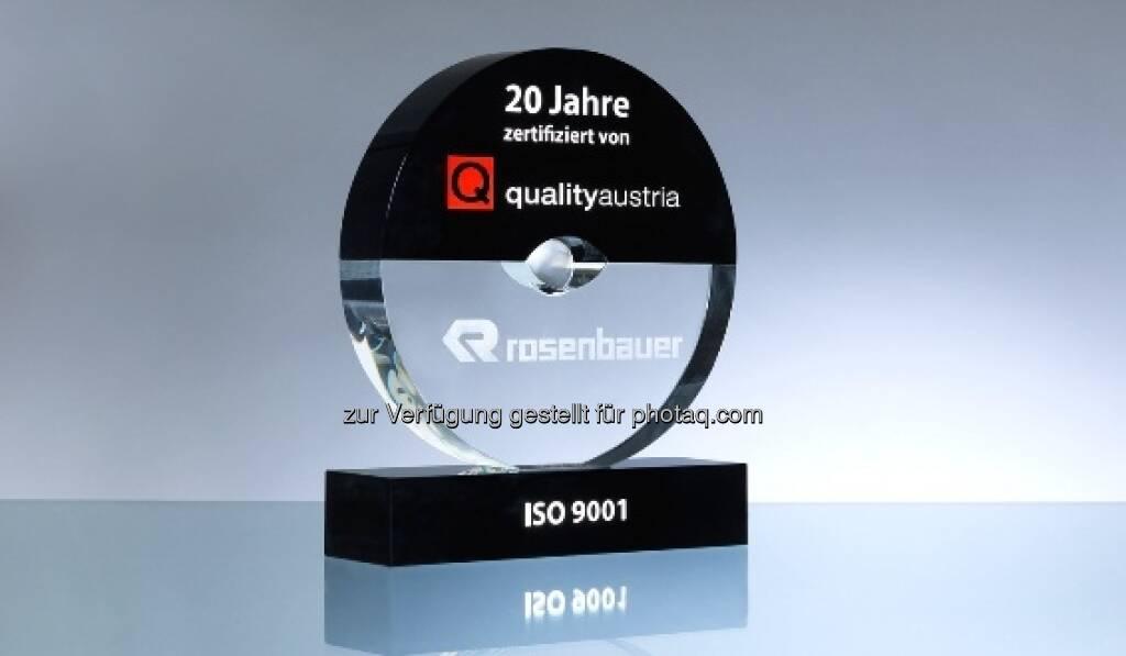Rosenbauer als Qualitäts-Pionier ausgezeichnet (06.09.2013)