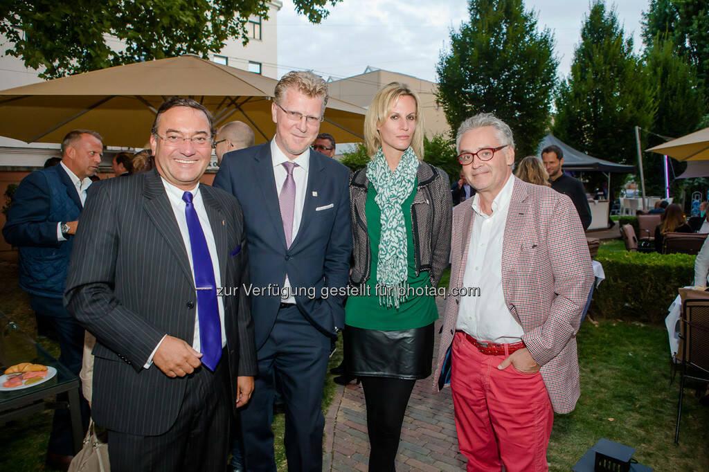 Heinz Stiastny, Peter Aigner, Heidi Schuller-Hrusa, Christian Mucha, © Aigner PR (10.09.2013)