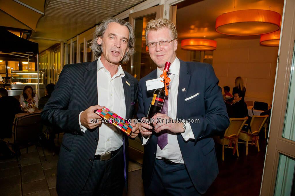 Wilfried Seywald (Agenturchef) und Peter Aigner, © Aigner PR (10.09.2013)