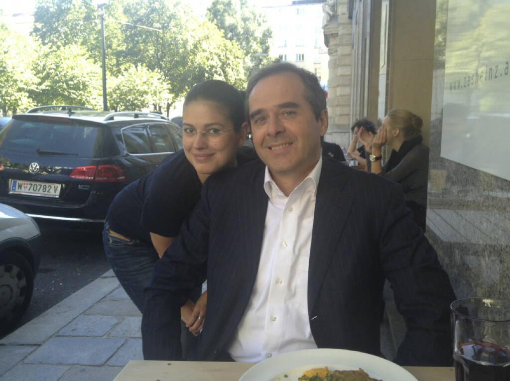 ... im Talk mit einem - von Das-Heinz-Chefin Naomi Fiby abgelenkten - Wolfgang Matejka (11.09.2013)