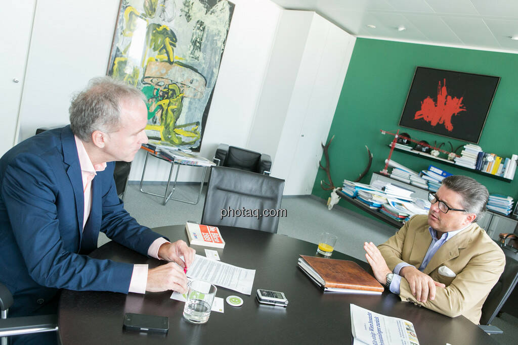 Christian Drastil, Karl-Heinz Strauss (Porr AG), © finanzmarktfoto.at/Martina Draper (12.09.2013)