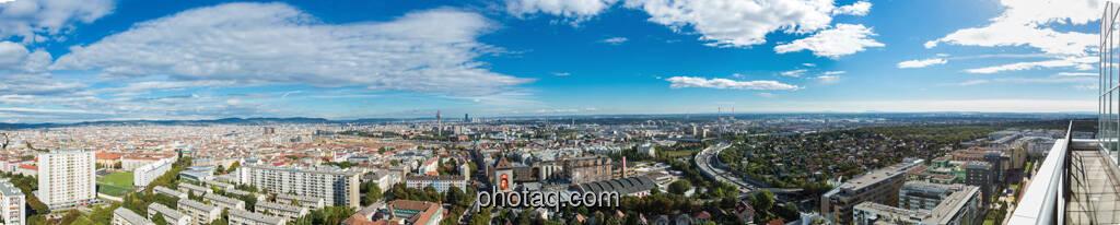 Panorama von der Dachterrasse der Porr AG, © finanzmarktfoto.at/Martina Draper (12.09.2013)