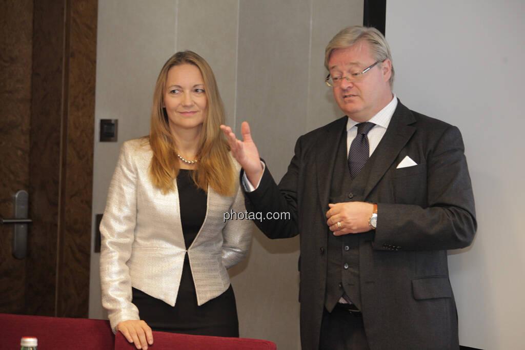 Karola Gröger, Philipp Baar-Baarenfels, © finanzmarktfoto.at/Michaela Mejta (12.09.2013)
