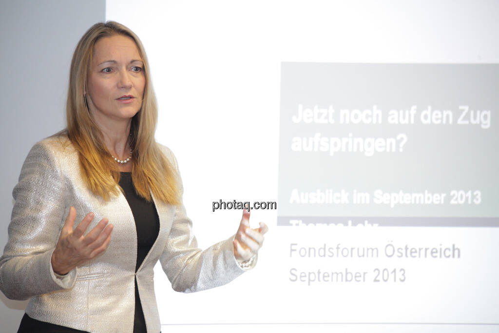 Karola Gröger, © finanzmarktfoto.at/Michaela Mejta (12.09.2013)