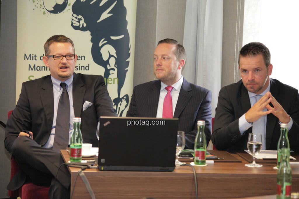 Gerhard Mittelbach, Mike Judith, Thomas Lehr, © finanzmarktfoto.at/Michaela Mejta (12.09.2013)