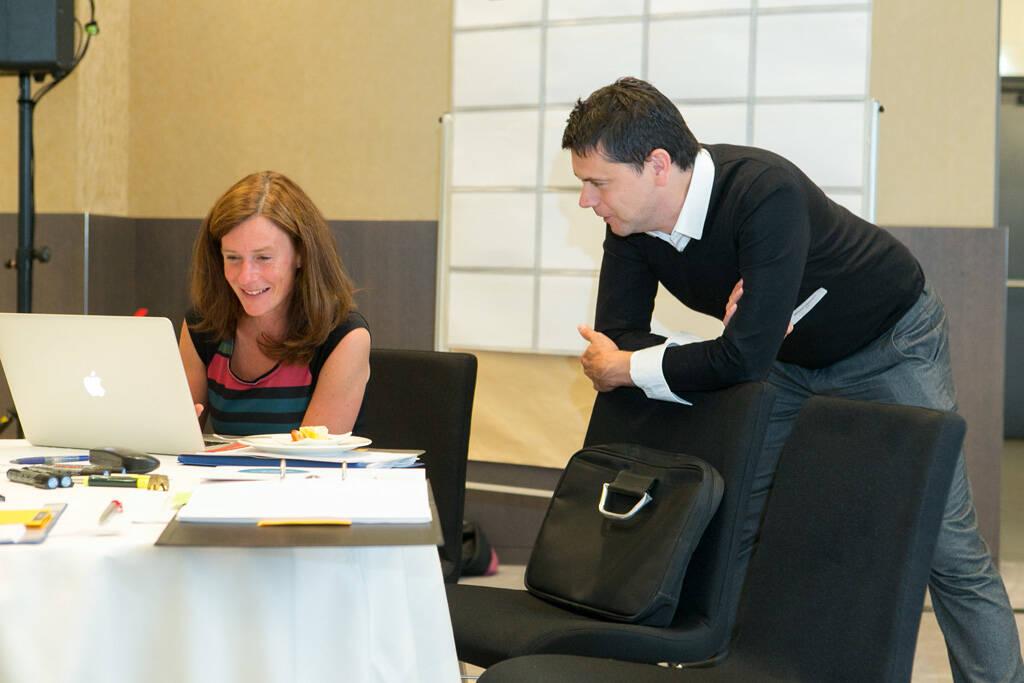 Kooperation, Teamwork, Auswertung, Programmierung, Freude, Arbeit, Jury, © Martina Draper (14.09.2013)