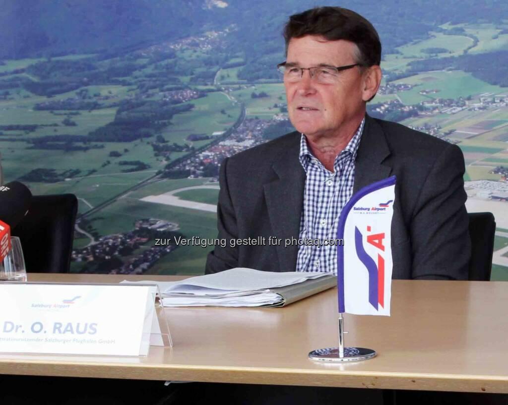 Othmar Raus scheidet nach 10 Jahren aus dem Aufsichtsrat des Salzburger Flughafens aus, dem er seit Juni 2004 angehörte. (16.09.2013)