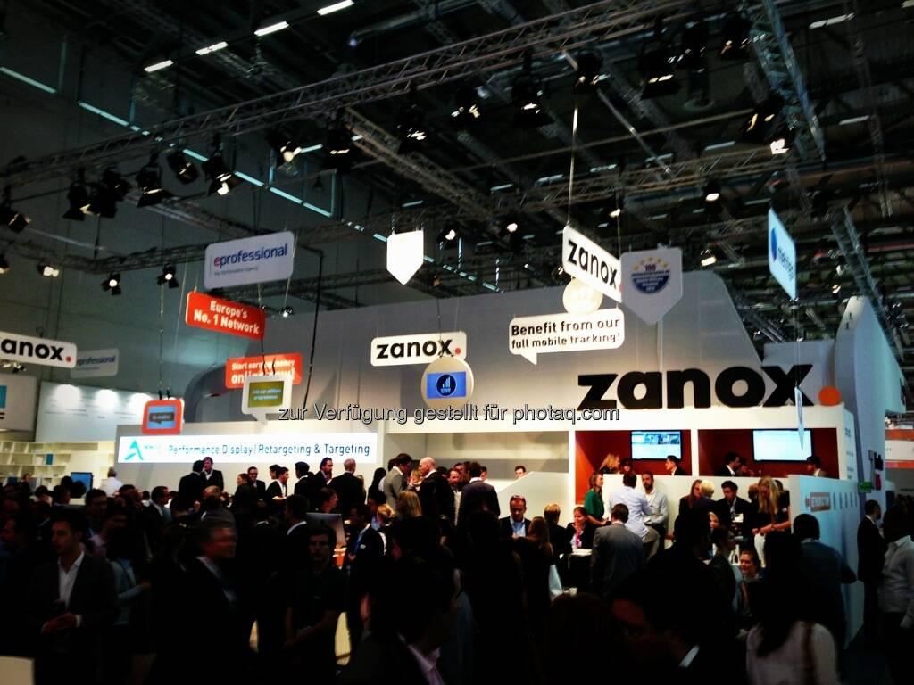 Dmexco Köln 2013: Zanox (19.09.2013)