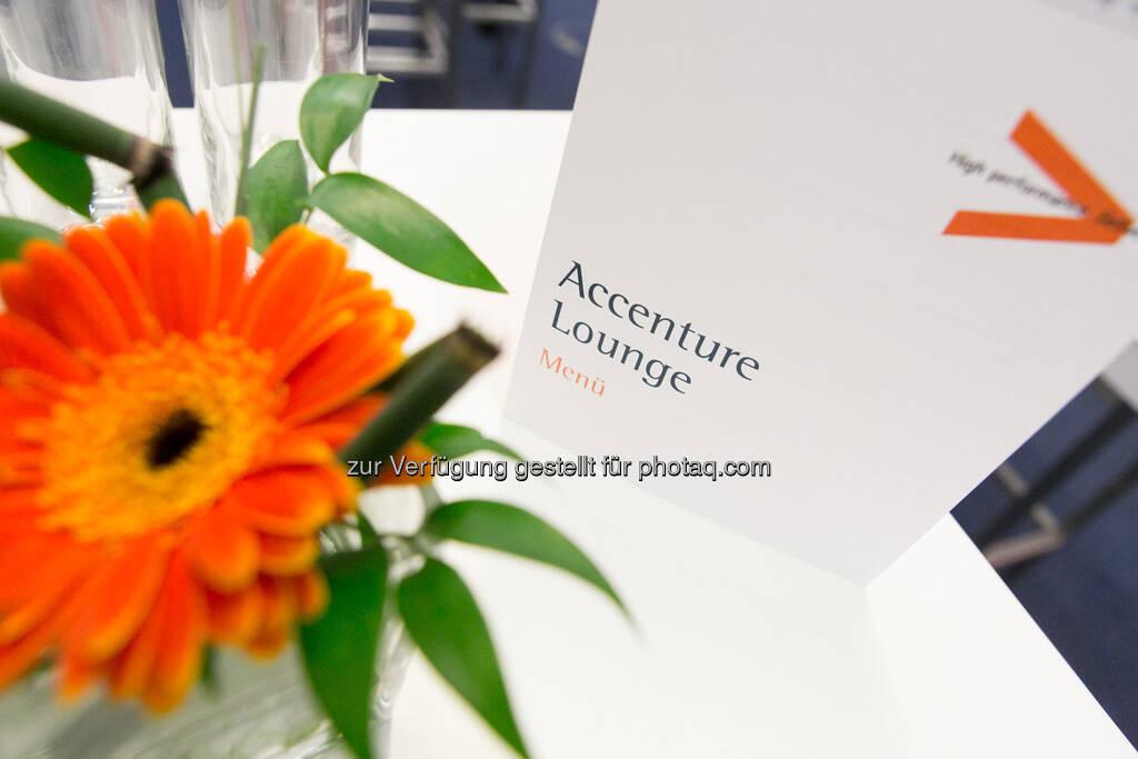 Accenture Lounge, Programm, Blume, © Accenture GmbH/APA-Fotoservice/Draper (19.09.2013)