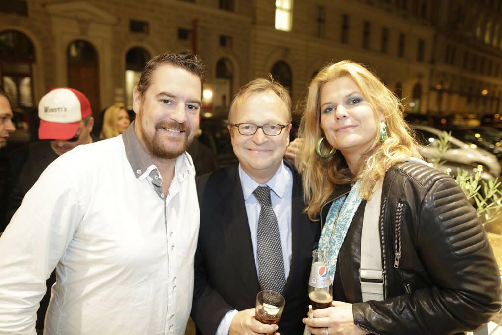 Andreas Schuster (GF hochmann's), Oliver Voigt (Medienmanager), Janina Lebiszczak-Schuster (Kolumnistin), © leisure.at/Stefan Joham (20.09.2013)