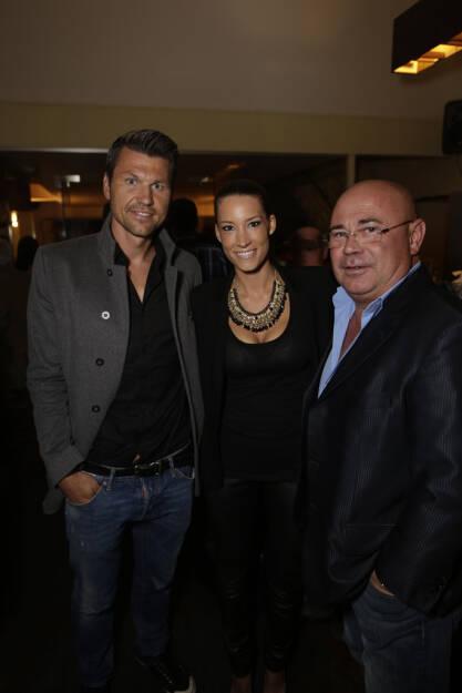 Markus Katzer (Fussballer), Sue Reichard, Werner Tomanek (Anwalt), © leisure.at/Stefan Joham (20.09.2013)